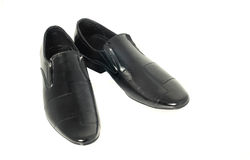 Classic Men's patent-leather shoes Royalty Free Stock Images