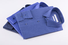 Classic men`s shirts stacked Royalty Free Stock Image