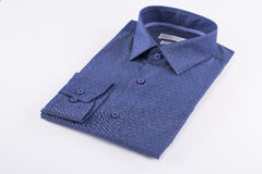 Classic men`s shirts stacked Stock Image