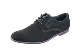 Classic men`s shoes made of genuine suede. Stock Image