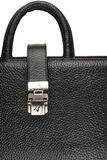 Classic mens briefcase with a lock and handle Stock Image