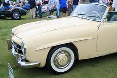 Classic merc convertible sports car Stock Image