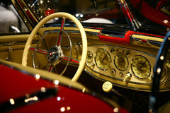 Classic  mercedes benz car interior Stock Photography