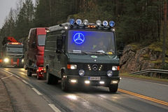 Classic Mercedes-Benz Van with LED lights Stock Image