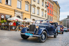 Classic Mercedes on the rally of vintage cars in Krakow, Poland Royalty Free Stock Photography