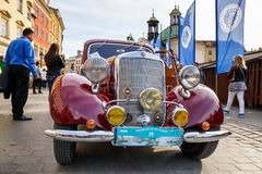 Classic Mercedes on the rally of vintage cars in Krakow, Poland Stock Photos