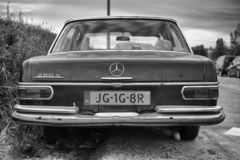 Classic Mercedes 280 S rear view stock image