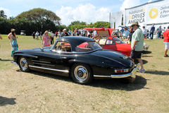 Classic mercedes super sports car and cabin Royalty Free Stock Images