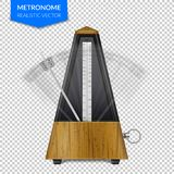Classic Metronome On Transparent Background vector illustration