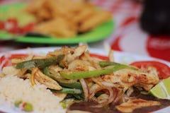 Classic Mexican Fajitas stock image