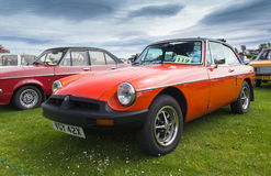 Classic MG MGB. TAIN, SCOTLAND - JUNE 18 2017: Classic MG MGB at vintage car rally Royalty Free Stock Images