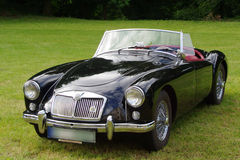 Classic MG sports car. Antique, convertible MG sports car with the top down Stock Photo