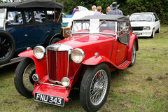 Classic 1938 MG TA 2 seater sports. Stock Images