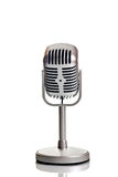 Classic microphone. Over white Royalty Free Stock Photos