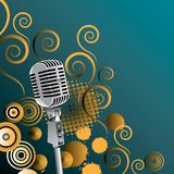 Classic microphone background Stock Images