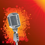 Classic microphone background Royalty Free Stock Images