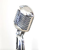 Classic Microphone. Detail shot of a classic style microphone Royalty Free Stock Photos