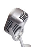 Classic microphone isolated. Over white Stock Photography