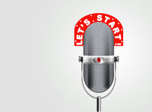 Classic microphone Royalty Free Stock Photo