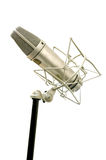 Classic Microphone on white background. Music tool concept Royalty Free Stock Photos