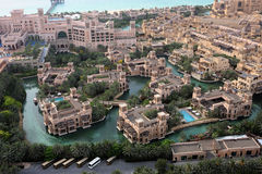 Classic Middle Eastern Architecture. Architecture & Waterways Of Al Qasr And Madinat Jumeirah Royalty Free Stock Image