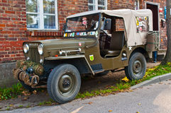 Classic military Willys Jeep car Stock Photography