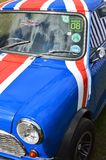 Classic mini car at the 2017 Brooklands mini day event. Stock Photography