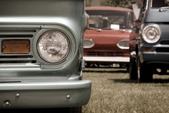 Classic mini vans and trucks Royalty Free Stock Photo