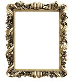 Classic mirror frame on white background. Royalty Free Stock Photography