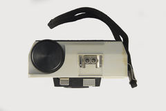 Classic 35mm camera top view Royalty Free Stock Photography