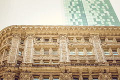 Classic and Modern Architecture amazing. View in New York City Stock Photography