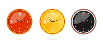 Classic and modern clocks set Royalty Free Stock Photography
