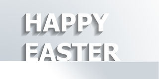 Classic monochrome Happy Easter design template Stock Photography