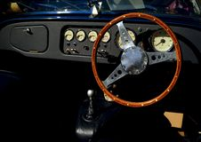 Classic Morgan automobile interior Royalty Free Stock Photography