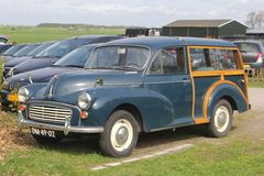 Classic Morris Minor 1000 oldtimer, Netherlands  Stock Images