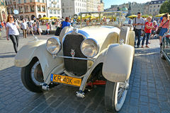 The Classic Moto Show Krakow, Poland. KRAKOW, POLAND - SEPTEMBER 1, 2016. The Classic Moto Show Krakow, an important meeting place for tourists in the Main Royalty Free Stock Photo