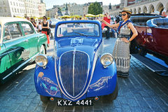 The Classic Moto Show Krakow, Poland. KRAKOW, POLAND - SEPTEMBER 1, 2016. The Classic Moto Show Krakow, an important meeting place for tourists in the Main Stock Image