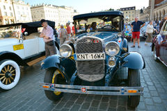 The Classic Moto Show Krakow, Poland. KRAKOW, POLAND - SEPTEMBER 1, 2016. The Classic Moto Show Krakow, an important meeting place for tourists in the Main Royalty Free Stock Image