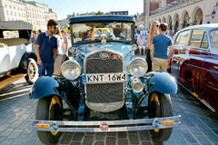 The Classic Moto Show Krakow, Poland. KRAKOW, POLAND - SEPTEMBER 1, 2016. The Classic Moto Show Krakow, an important meeting place for tourists in the Main Stock Photo