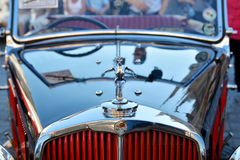 The Classic Moto Show Krakow. KRAKOW, POLAND - SEPTEMBER 1, 2016. The Classic Moto Show Krakow, an important meeting place for tourists in the Main Market Square Stock Image