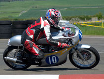 Classic motobike. Motorbike motorcycle racing race track bike classic east fortune royalty free stock images
