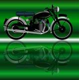 Classic Motor Cycle Stock Photo