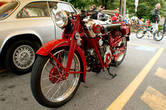 Classic Motorbike at Bergamo Historic Grand Prix 2015 Royalty Free Stock Photography