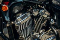 Classic motorbike closeup Royalty Free Stock Images