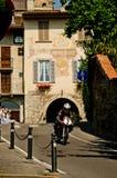 Classic motorbike at Bergamo Historic Grand Prix 2017 Royalty Free Stock Images