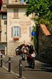 Classic motorbikes at Bergamo Historic Grand Prix 2017 Stock Photos