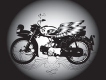 Classic motorcycle. This field contains the graphics. And creative work Stock Photography