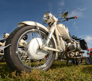 Classic motorcycle closeup view Royalty Free Stock Images