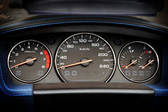 Classic motorcycle dashboard Royalty Free Stock Photos