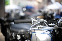 Classic motorcycle detail Stock Photography